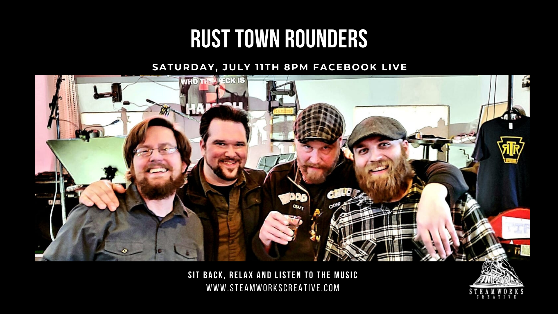 Rust Town Rounders |  Facebook Live 8 PM